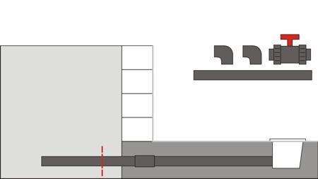 Pool Bodenablauf Montage 5