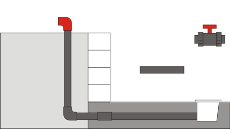 Pool Bodenablauf Montage 7