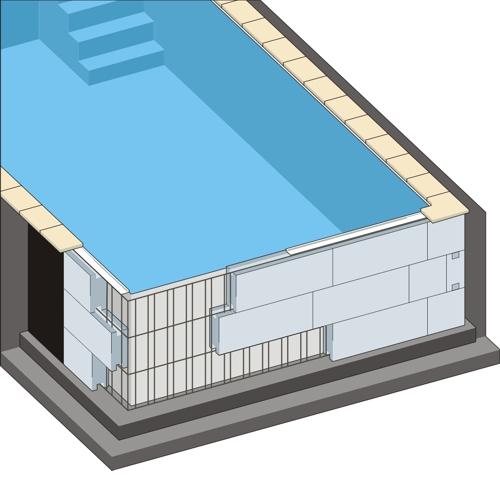 styropor pool komplettset thermo rechteckpool styroporbecken schwimmbecken set ebay. Black Bedroom Furniture Sets. Home Design Ideas
