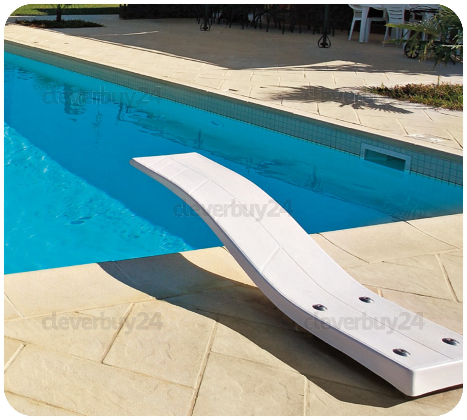 Gut Pool Randsteine f. 7 m Rundpool Beckenrandsteine Schwallkante  EH46