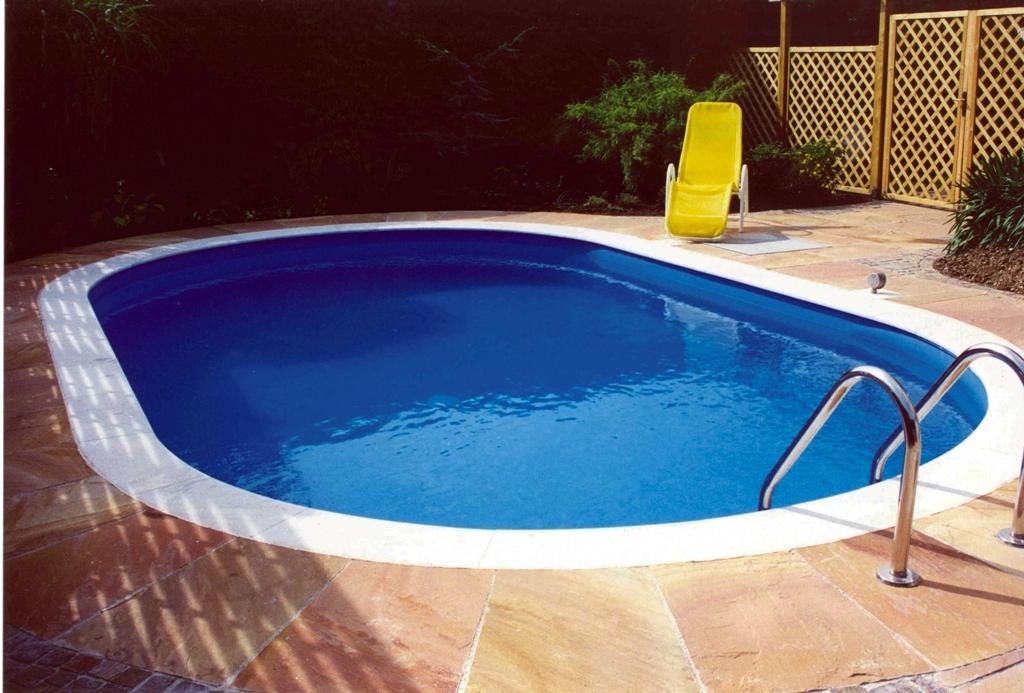 Stahlwandpool oval pool stahlwandbecken ovalpool for Folienfarbe pool