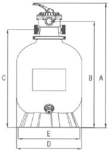 Sandfilterkessel BASIC SIDE 500 - Skizze