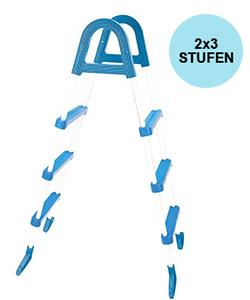 Aufstellleiter für Becken bis 110cm / 2x3 Stufen