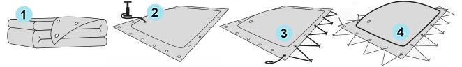 aufblasbare Poolplane - einfache Montage