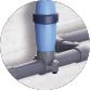 Blue Connect Plus Salt blau - Rohranschlussschelle