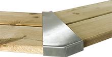 Edelstahlecken Set Holzpools - einzeln