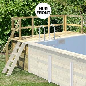 Terrasse Front für Holzpool Rechteckbecken