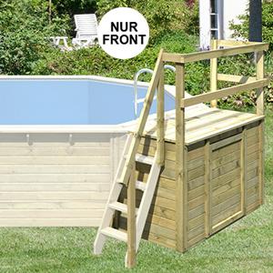 Terrasse Front für Holzpool Achteckbecken