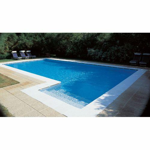 Details zu Pool Randsteine flach Beckenrandsteine Schwallkante  sandgestrahlt Poolumrandung